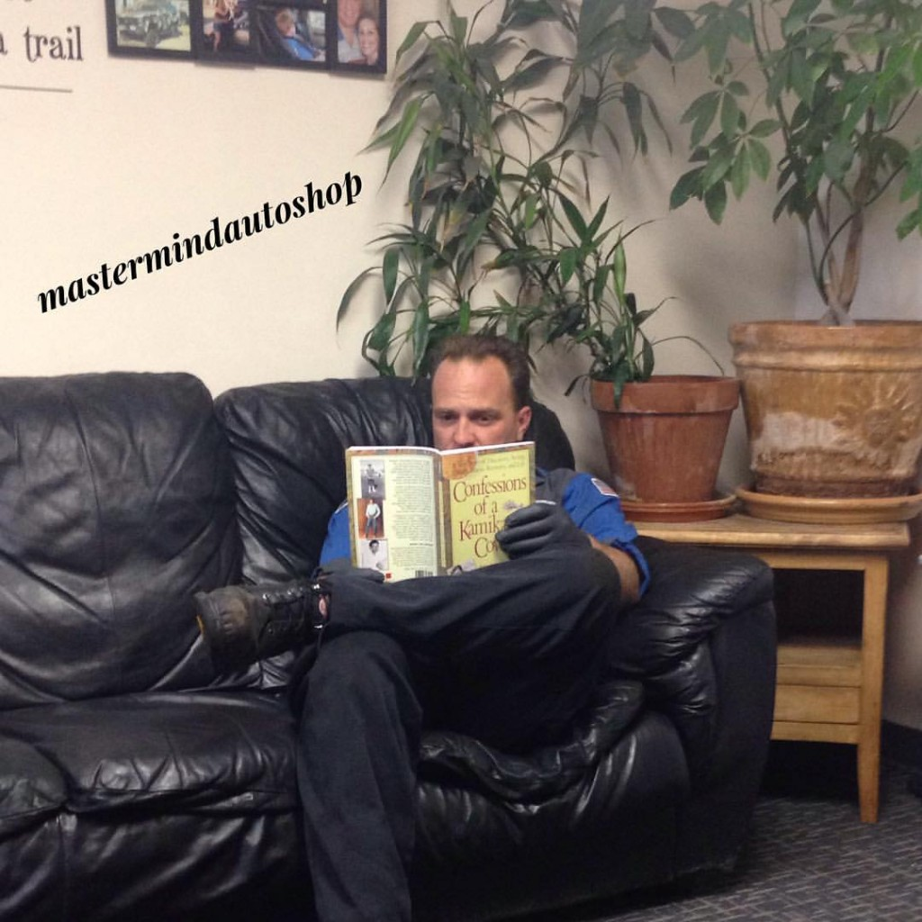 Norm reading a book!