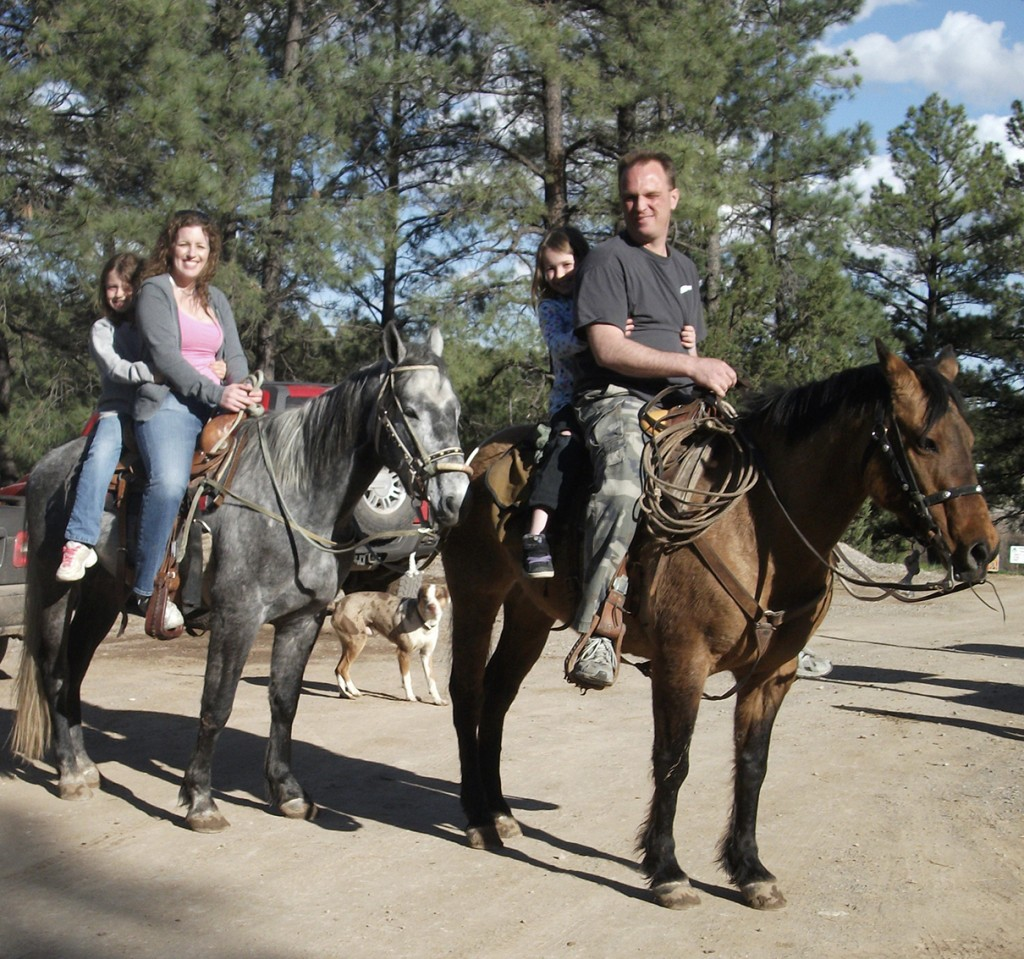 horseback riding family