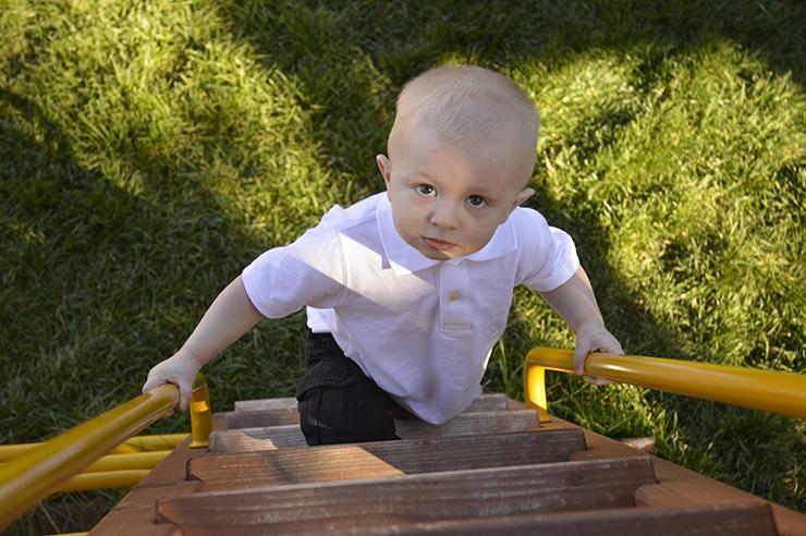 Nemi playing in the backyard