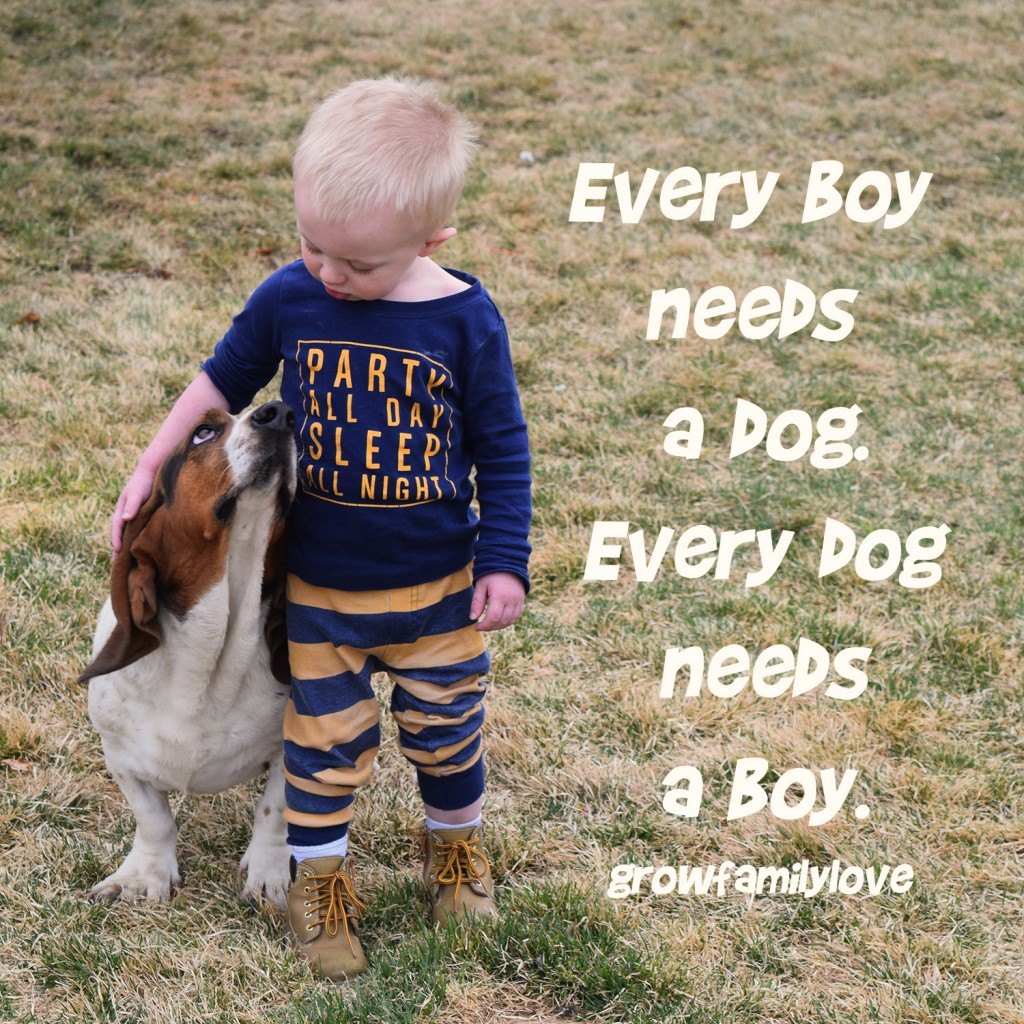 Every boy needs a dog. Every dog needs a boy.