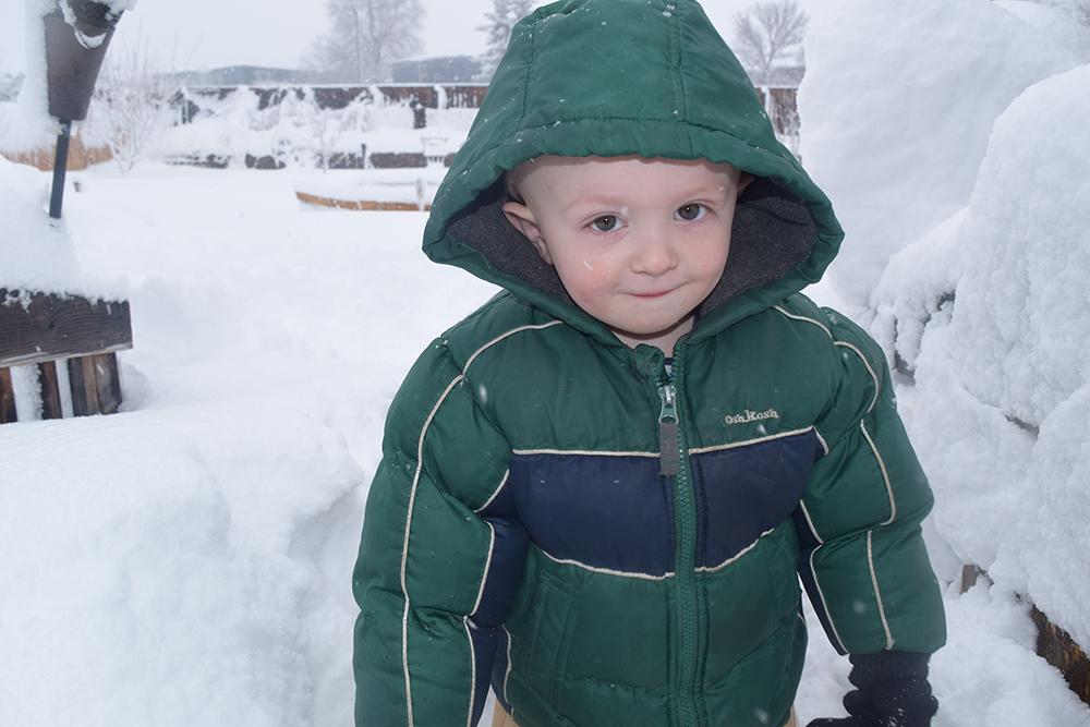 Nemi's first big snowstorm