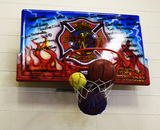 Fire Station Basketball Hoop