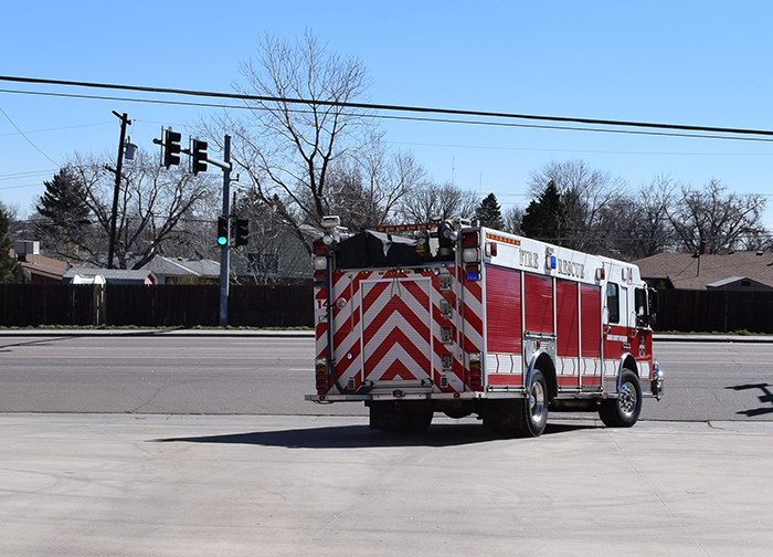 Fire Truck Leaving on Call