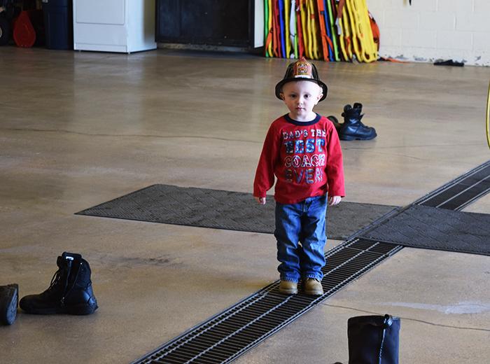 Preschooler Homeschool Field Trip at Fire Station